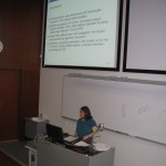 Dana-Maria Bunaciu presenting her master's thesis
