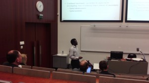 Sinai_Mwagomba_presenting is master_thesis_of AMS_at_University_of_Tartu